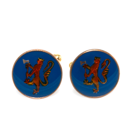 Hand Enameled Coin Cufflinks - Norway