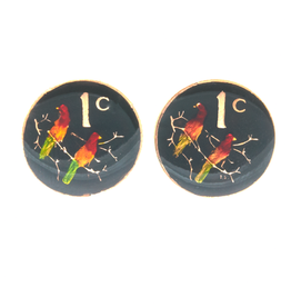 Hand Enameled Coin Cufflinks - South Africa