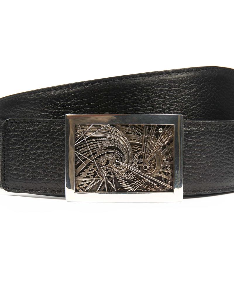 Textured Calf Skin Belt Strap