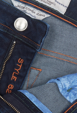 98%CO2%EL Handmade Tapered Comfort Stretch Jeans, Zip fly