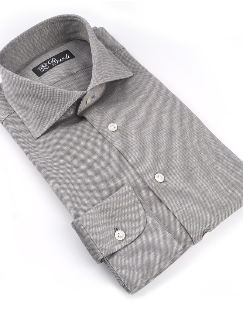 100%CO Jersey Knit Shirt, Melange - P-17125