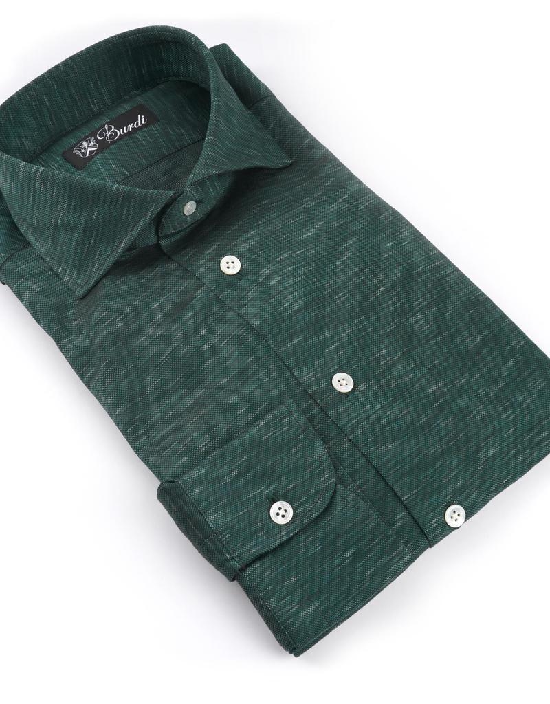 100%CO Jersey Knit Shirt, Melange - P-17147