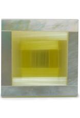 Yellow 3D Shimmer Stone & MOP Cufflinks