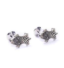 Zebra Enameled Cufflinks