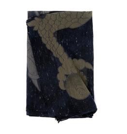 Dragon Scarf - Cotton, Velvet and Modal