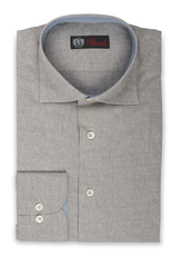 100% Cotton Shirt in tonal Paisley with contrast cuff, collar and placket