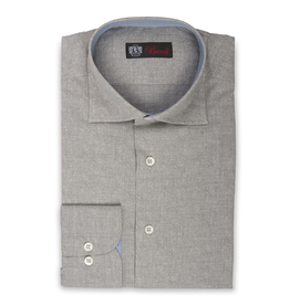 Cotton Shirt in tonal Paisley with contrast cuff, collar and placket