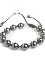 Macrame Corded Bracelet with Hematite Beads
