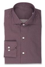 Printed Twill Cotton Shirt, Small Geo dots