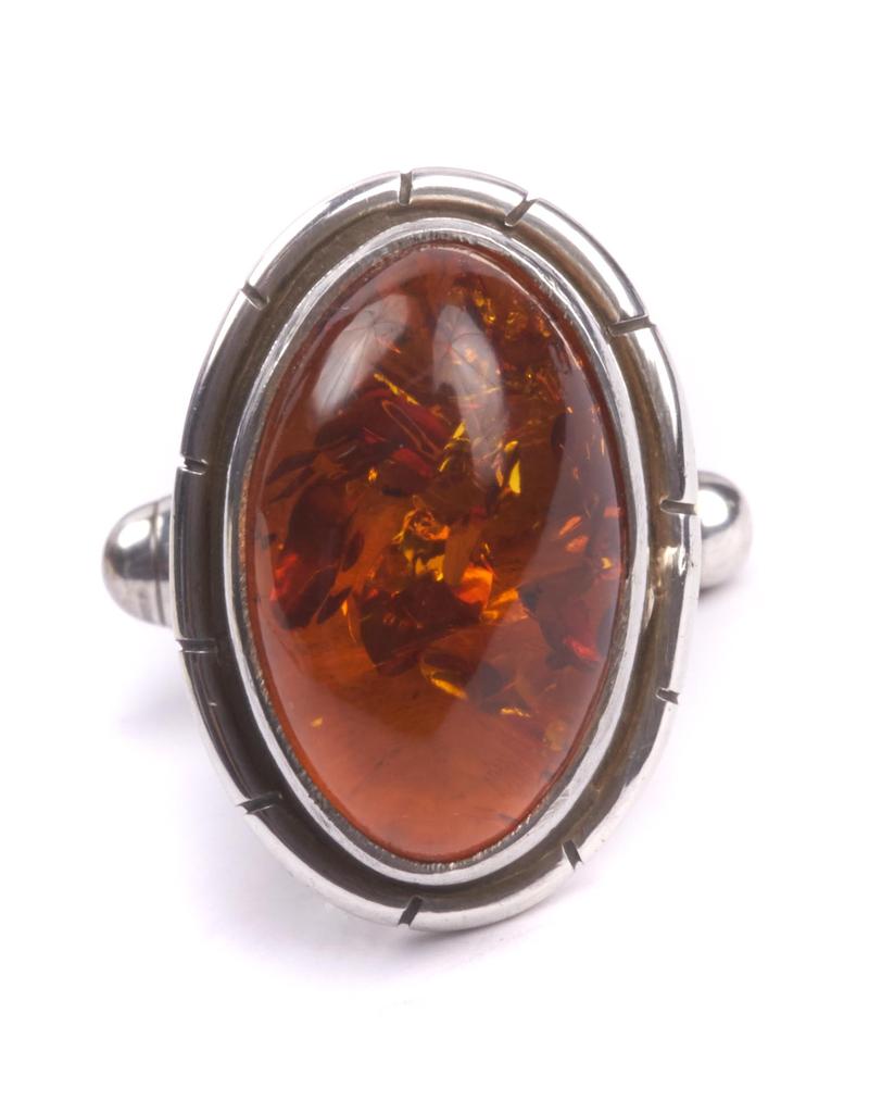 Handmade Amber in 925 Sterling Silver Cufflinks