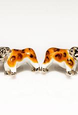 Bulldog Sterling Silver Cufflinks