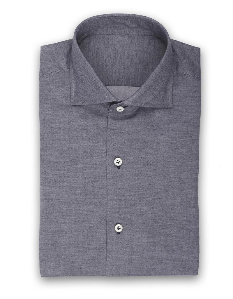 100%CO Handmade Soft Twill Shirt w/contrast stitching