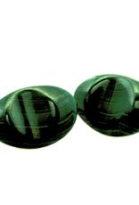 Green Malachite Sterling Silver Cufflinks