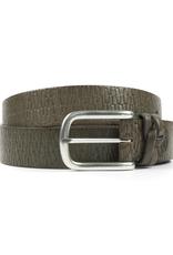 Geometric leather belt