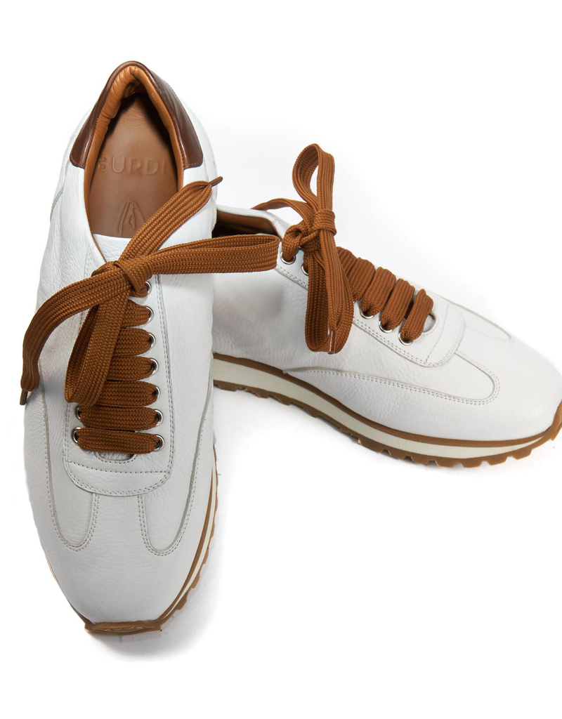 Calf Leather Sneakers, White