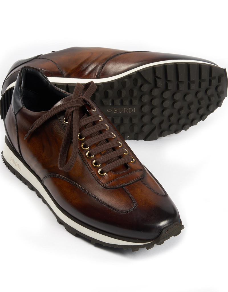 Calf Leather Sneakers, Brown