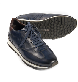 Calf Leather Sneakers - Navy