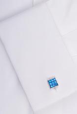 Blue Swarovski Mini Cufflinks