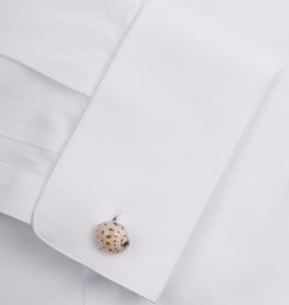 White Shell Sterling Silver Cufflinks