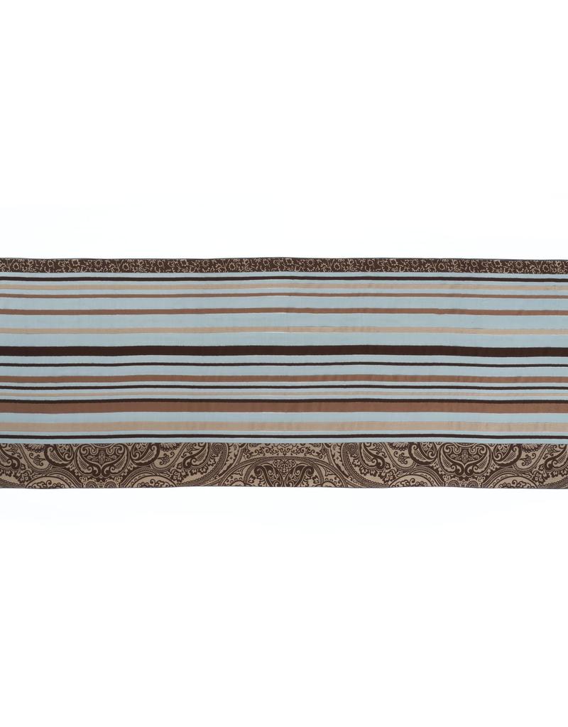 SE Paisley and Stripe  Multicolor Scarf