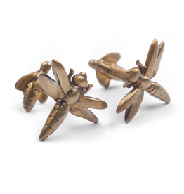 S/S Gold plated dragonfly cufflinks