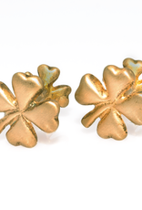 S/S Gold plated plated Clover cufflinks