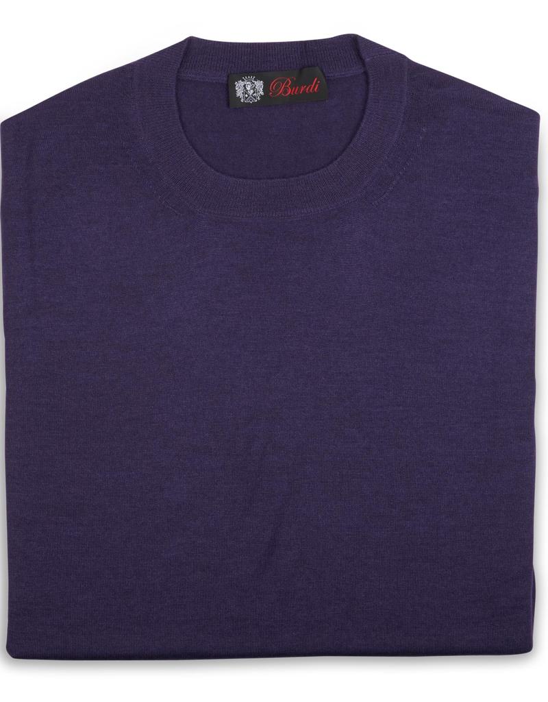 Cashmere / Silk Crew Neck, Purple