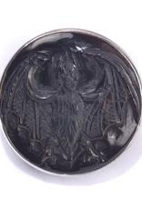 Bat Black Mother of Pearl in 950 Sterling SIlver Cufflinks