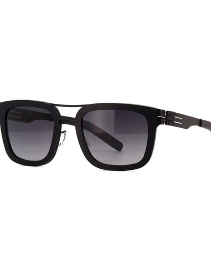 Lisanne B. :Black_Black_Rough :Black_Matt :Black to Grey :Acetate Sunglasses sun glasses