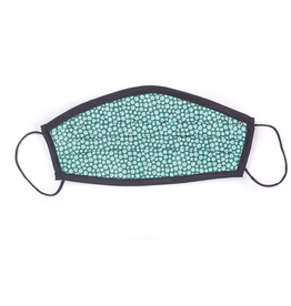 Silk pleated style mask, 2 sets of cotton liners and a carrying pouch, FINAL SALE