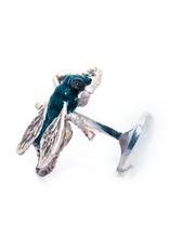 Sterling Silver Fly Cufflinks