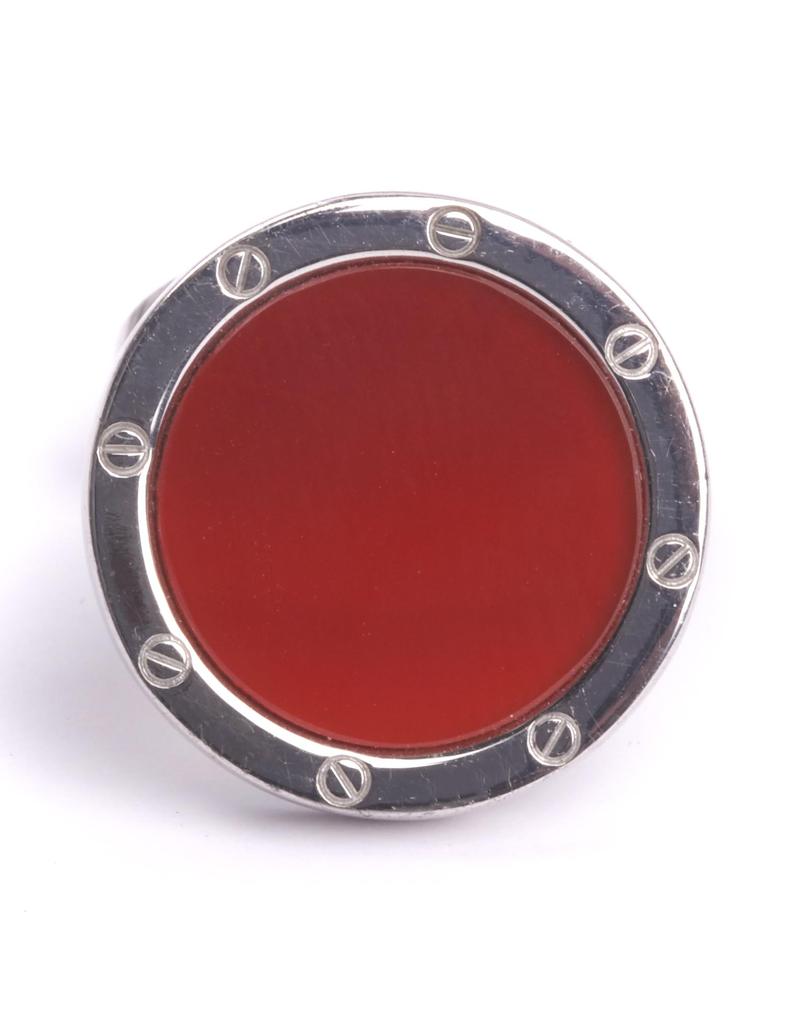 Red Agate 925 SS Cufflinks