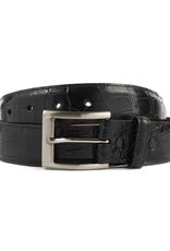 Black Matte Alligator Belt (35mm)