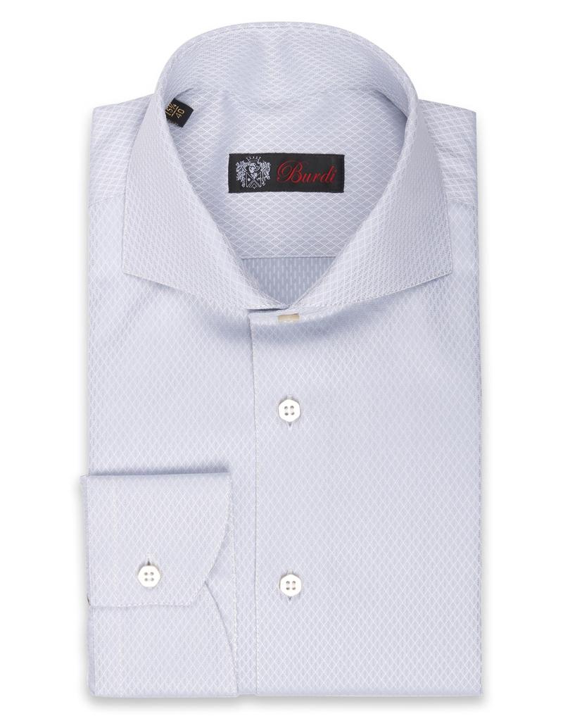 100%CO Woven Shirt, Diamond texture