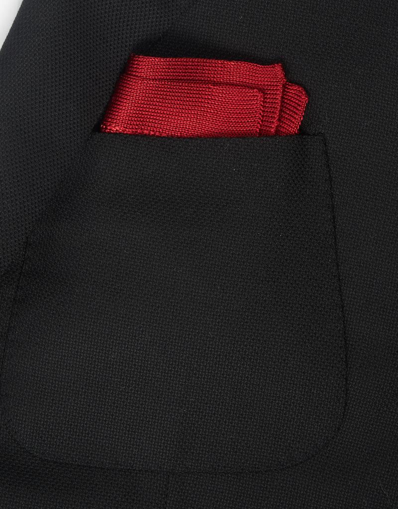 Silk Knit Pocket Square, red