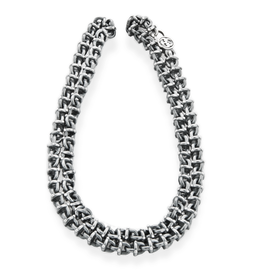Chain with Round Studded Links in 925 Sterling Silver