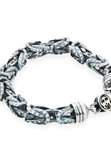 Chain Bracelet with Byzantine Links in 925 Sterling Silver