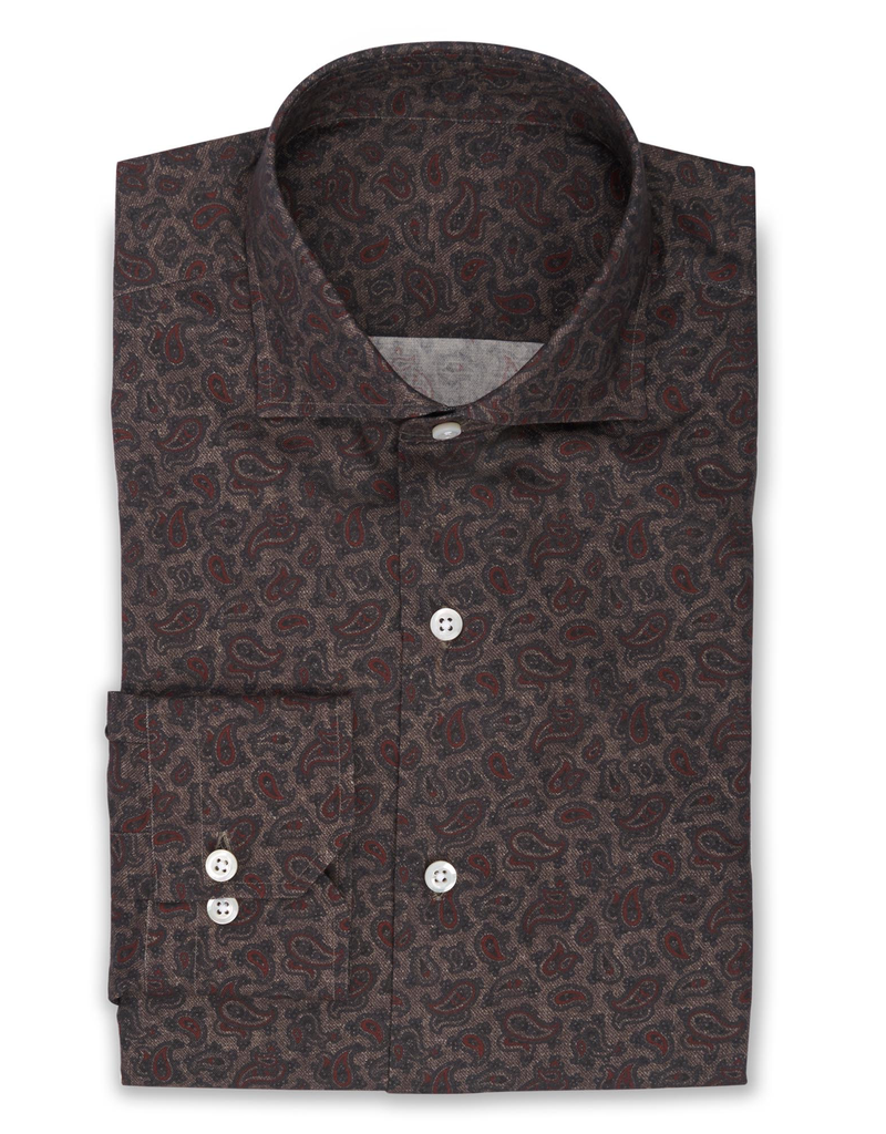 Printed Paisley Shirt, Handmade