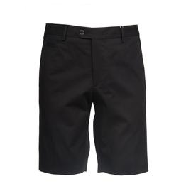 Stretch Cotton Dress Shorts, Black
