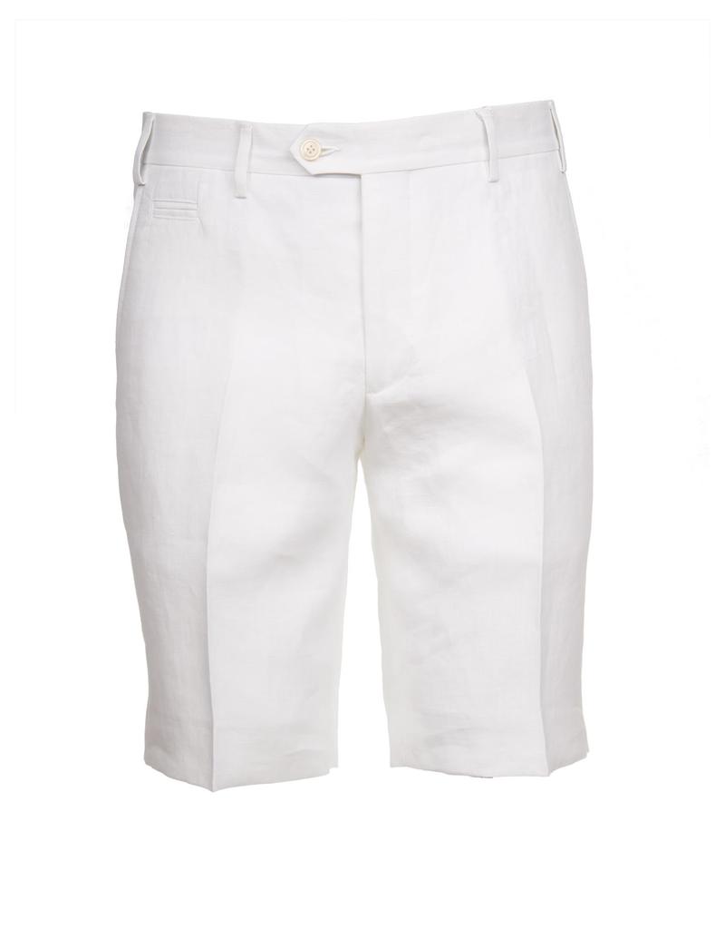 Linen Dress Shorts, White