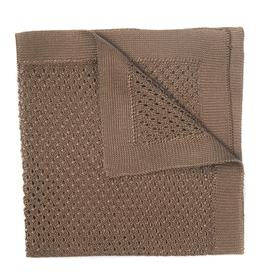 Silk Knit Pocket Square, Brown