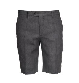 Linen Dress Shorts, Dark Gray