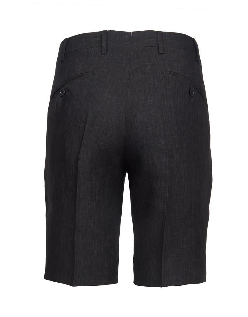 Linen Dress Shorts, Charcoal