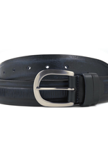 Leather Belt with textured stripe