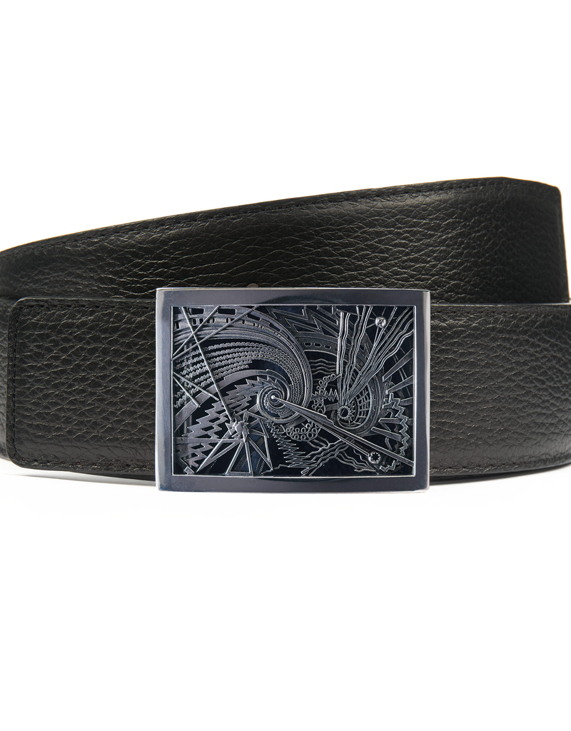 Sterling Silver Deco Buckle