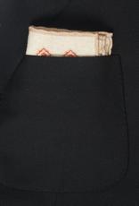 Printed Medallion Pocket Square, Tan & Rust