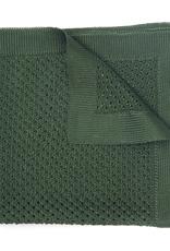 Silk Knit Pocket Square, Green