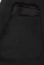 Silk Knit Pocket Square, Black