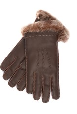 Leather Glove w/ Rabbit Lining and Contrast Stiching