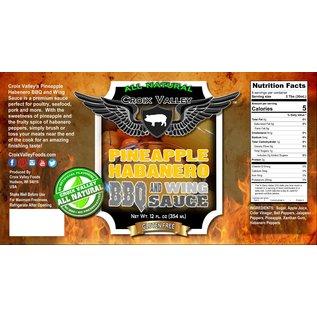 CROIX VALLEY PINEAPPLE HABANERO BBQ & WING SAUCE